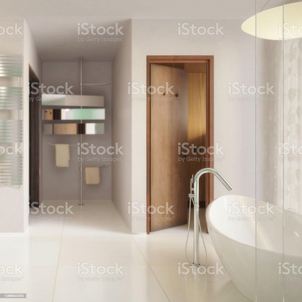 Salle De Bain Allemagne photo libre de droit de visualisation 3d salle de bains