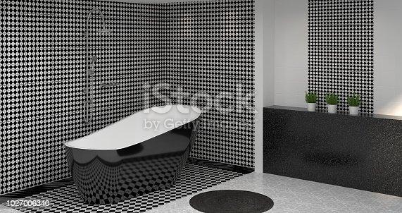 ᐈ Imagen de interior de cuarto de baño, Aseo, ducha, Render 3D casa ...