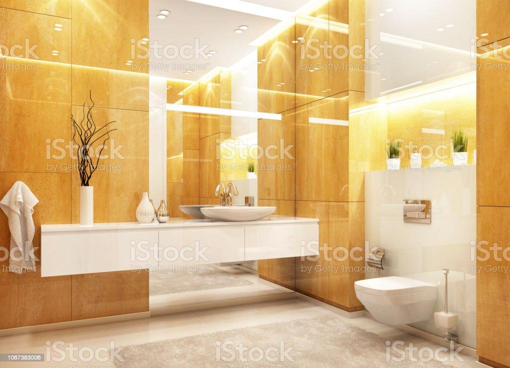 Moderne Badgestaltung Stockfoto und mehr Bilder von ...