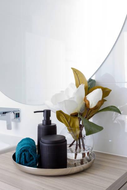 Modern Bathroom Detail - Home Decor stock photo