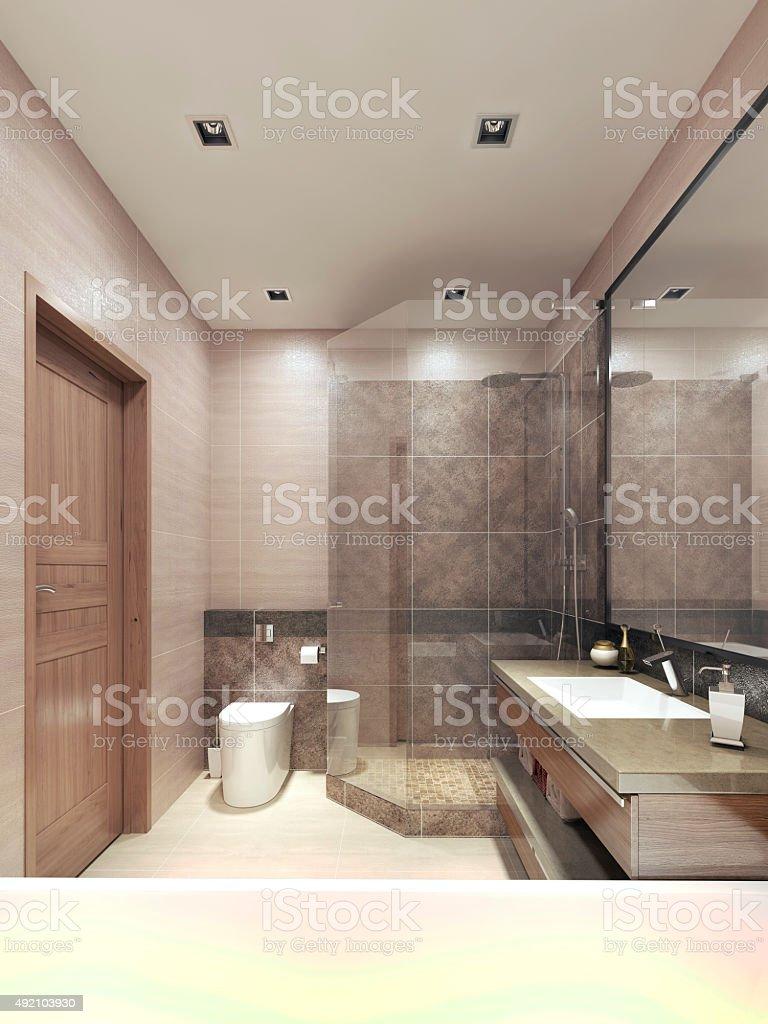 Moderne Badezimmer In Der Hightechstil Stockfoto und mehr Bilder von ...