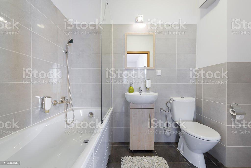 Moderne Badezimmer im skandinavischen Stil – Foto