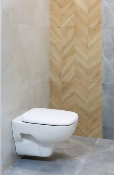 Modern bathroom interiom stock photo