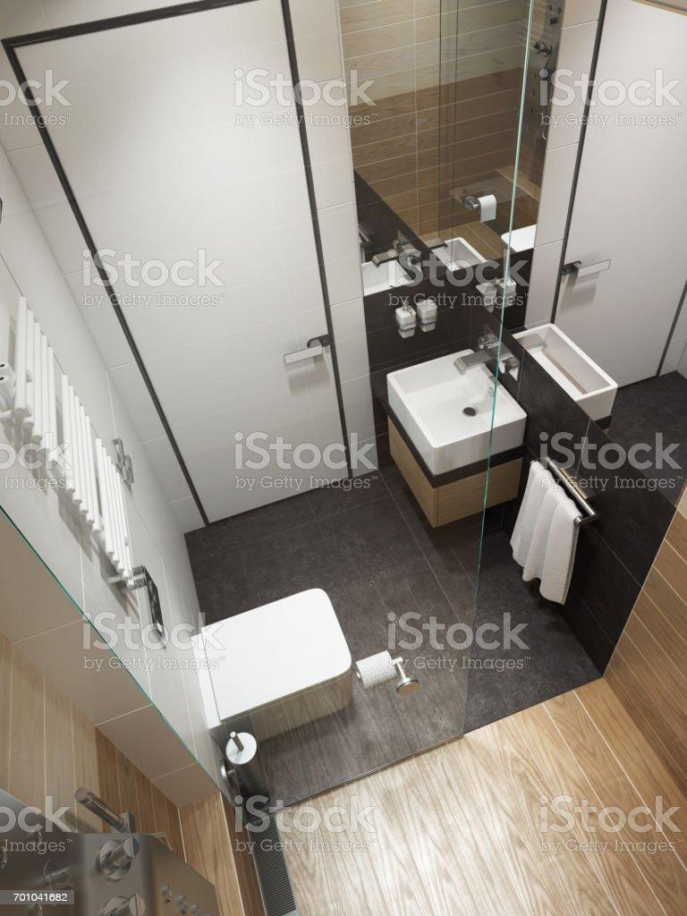 Modernes Badezimmer Interieur 3drendering Stock-Fotografie und mehr ...