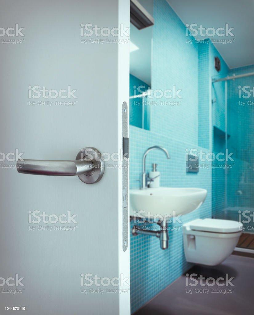 Modern Bathroom Interior Behind The Doors Stock Photo Download Image Now Istock