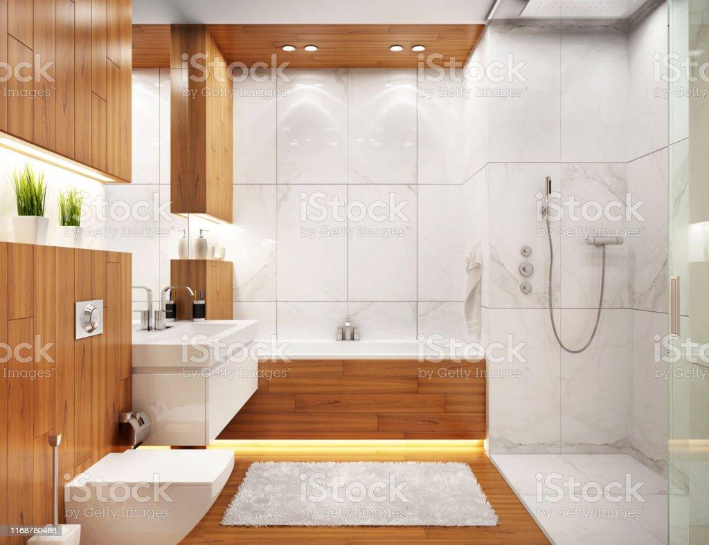 Modern Bathroom Interior Design In Modern House Stock Photo Download Image Now Istock