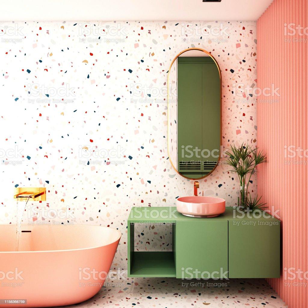 Moderne Badezimmer Innenarchitektur Trenddesign 2019 3d ...