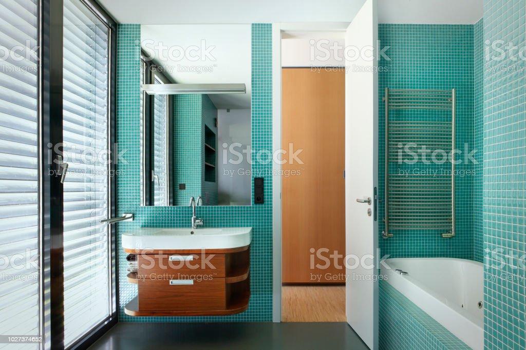 Modern bathroom interior royalty-free stock photo