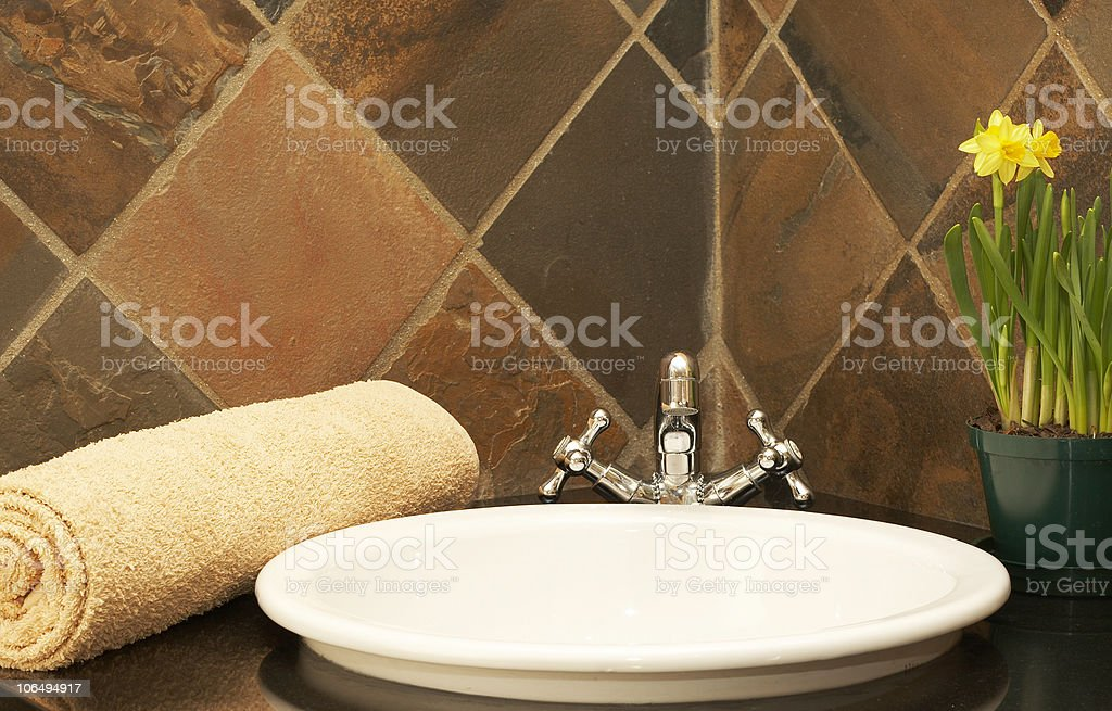 Modern bathroom interior royalty-free stock photo
