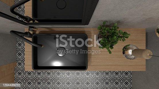 847138534 istock photo Modern bathroom interior 1204435222