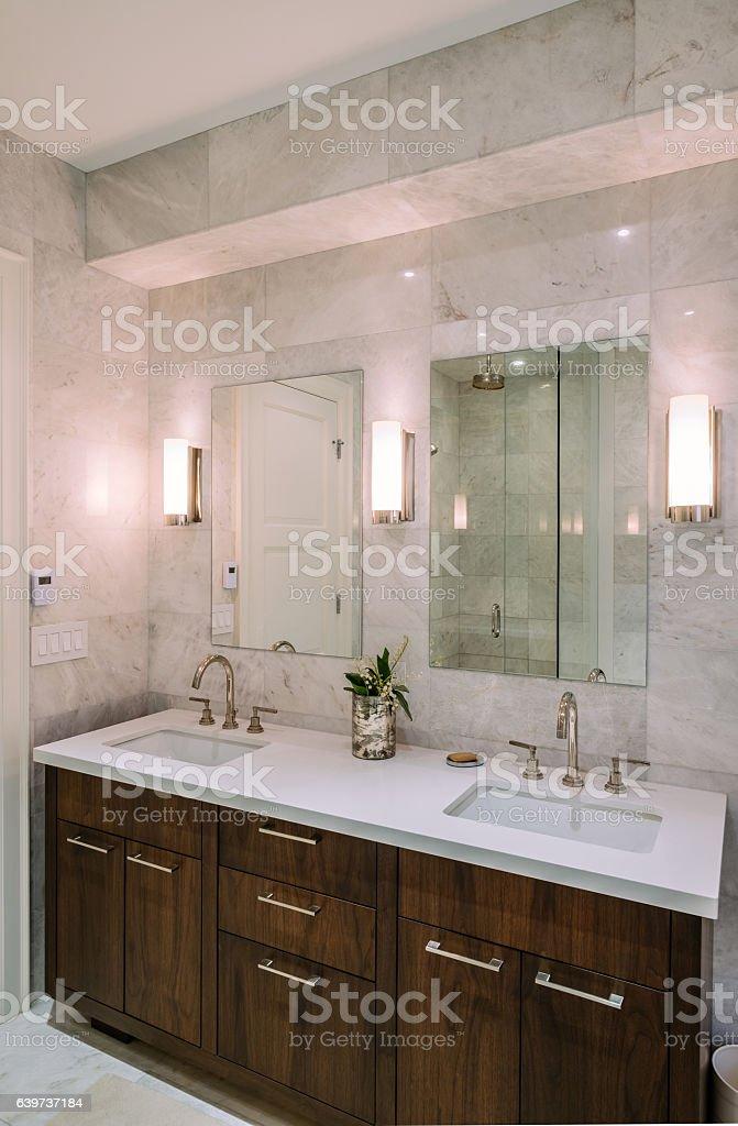 Modern bathroom interior stock photo