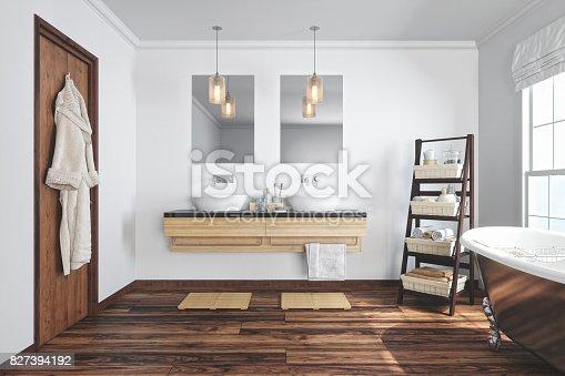 istock Modern Bathroom Interior 827394192