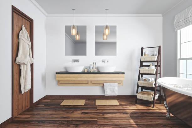 Banheiro moderno Interior - foto de acervo