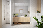 istock Modern Bathroom Interior stock photo 1275104046