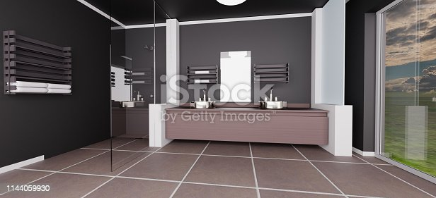 Large modern style bathroom