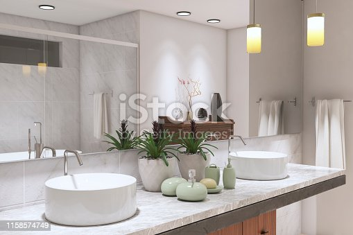 Modern Bathroom ( 3d render )