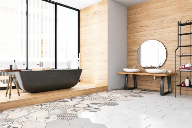 banheiro moderno - banheiro doméstico - fotografias e filmes do acervo
