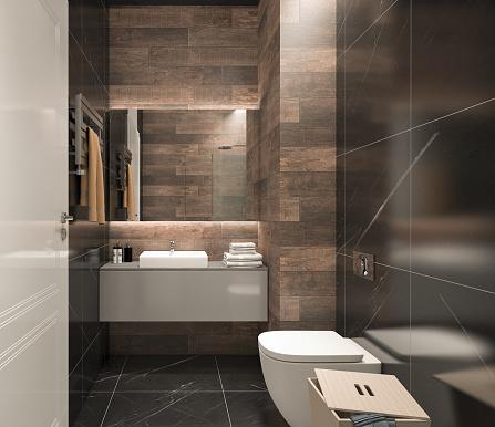 Modern Bathroom Stock Photo - Download Image Now