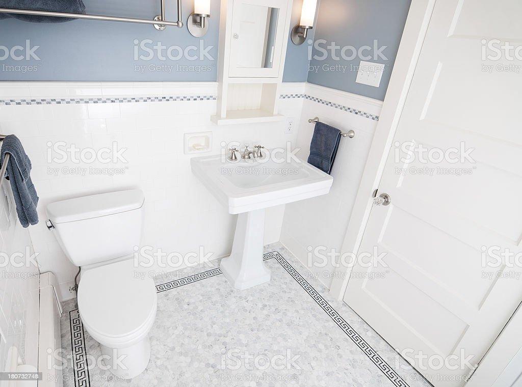 Modern Bathroom A modern tiled bathroom Bar Of Soap Stock Photo