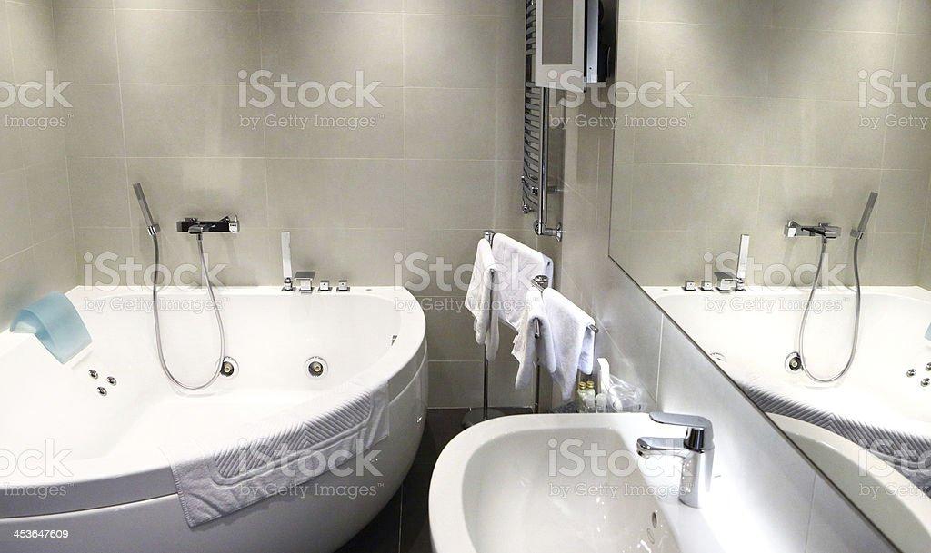 Modern bathroom. stock photo
