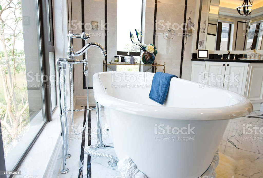 Modern  bathroom stock photo