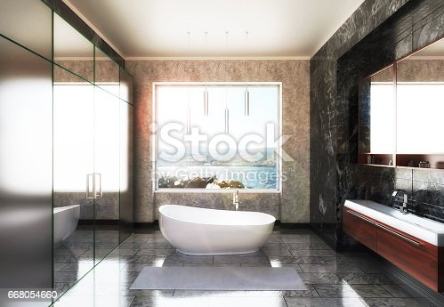 istock Modern Bathroom 668054660