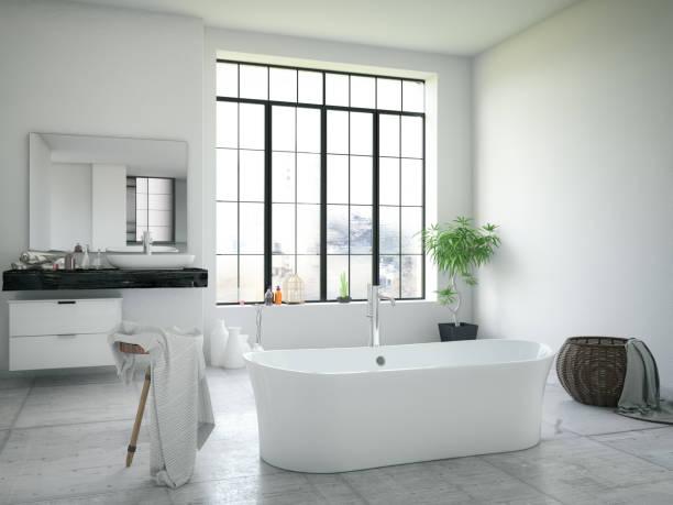 modernes badezimmer  - türkische fliesen stock-fotos und bilder