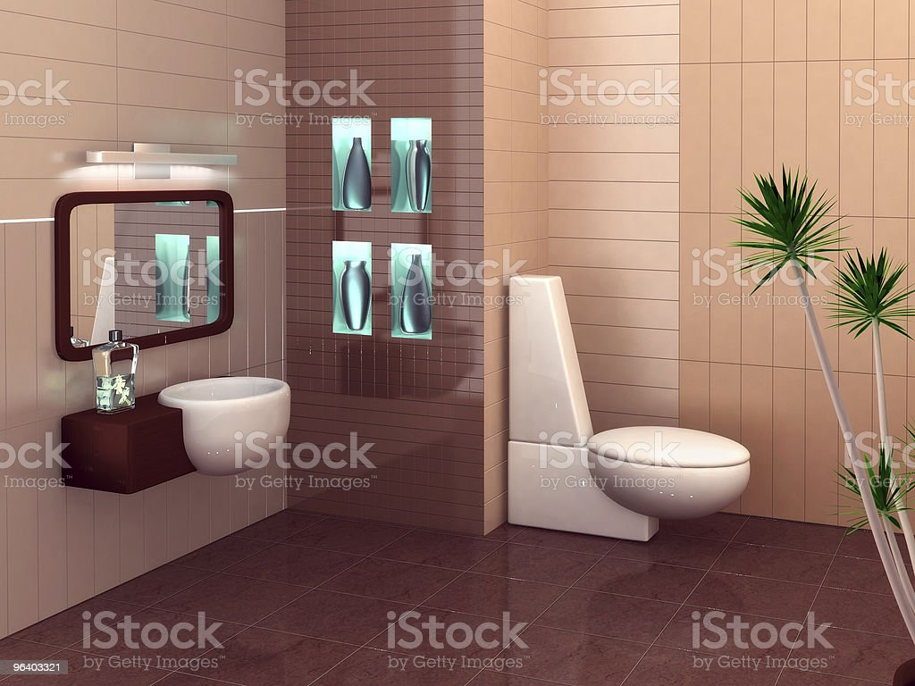 Modern bathroom - Royalty-free Black Color Stock Photo
