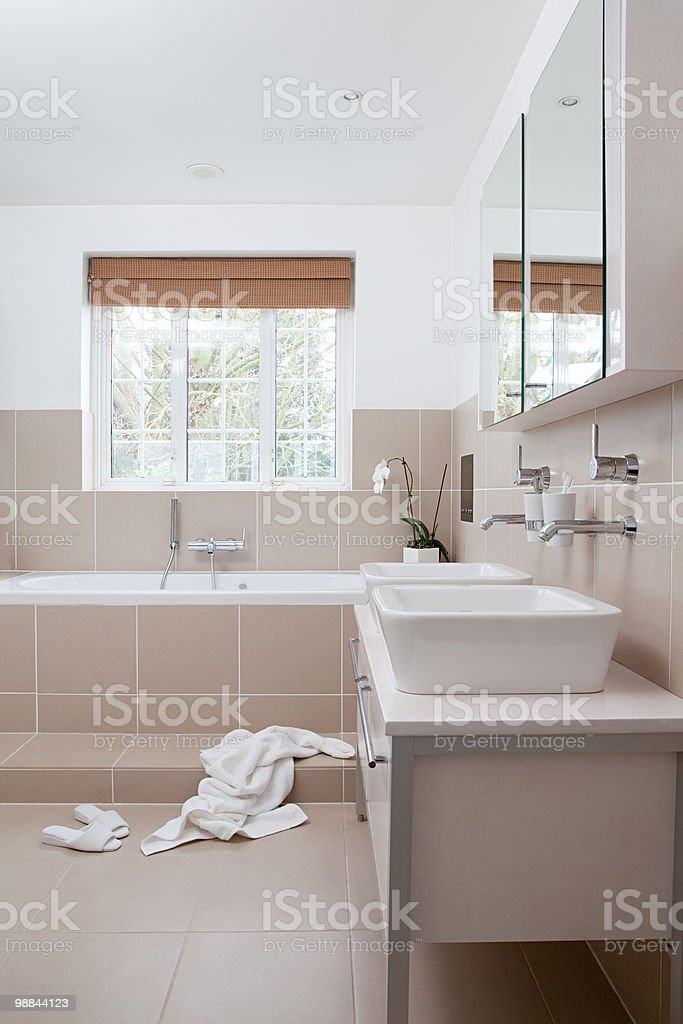 Modern bathroom royalty free stockfoto