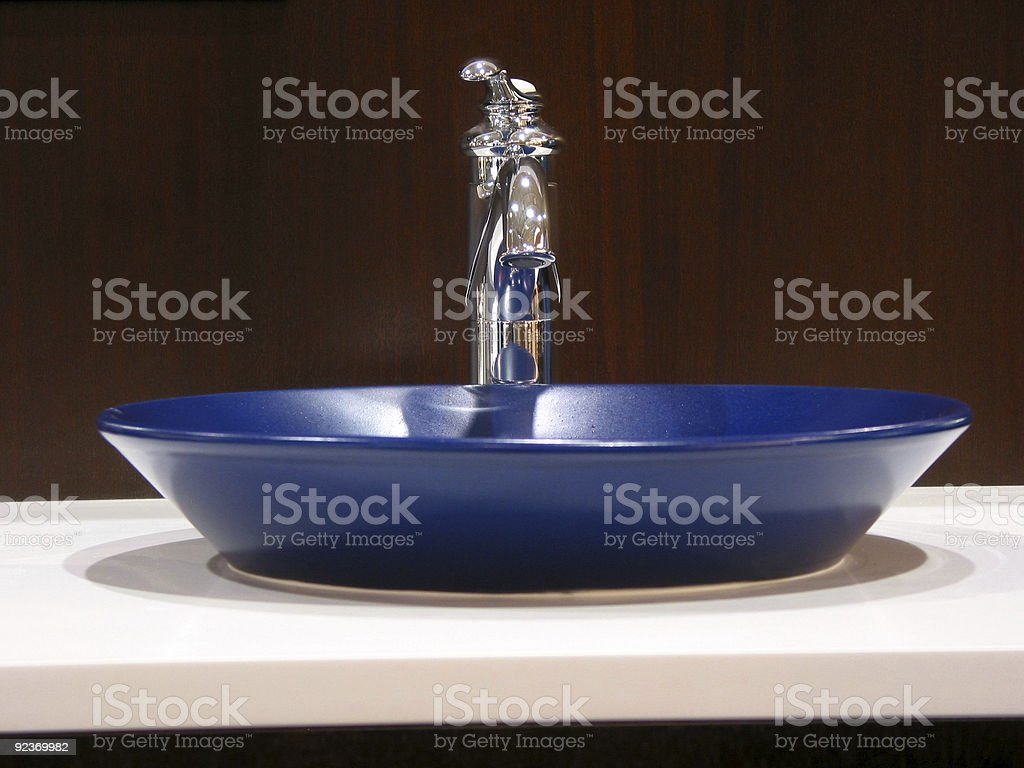 Modern bathroom sink royalty-free stock photo