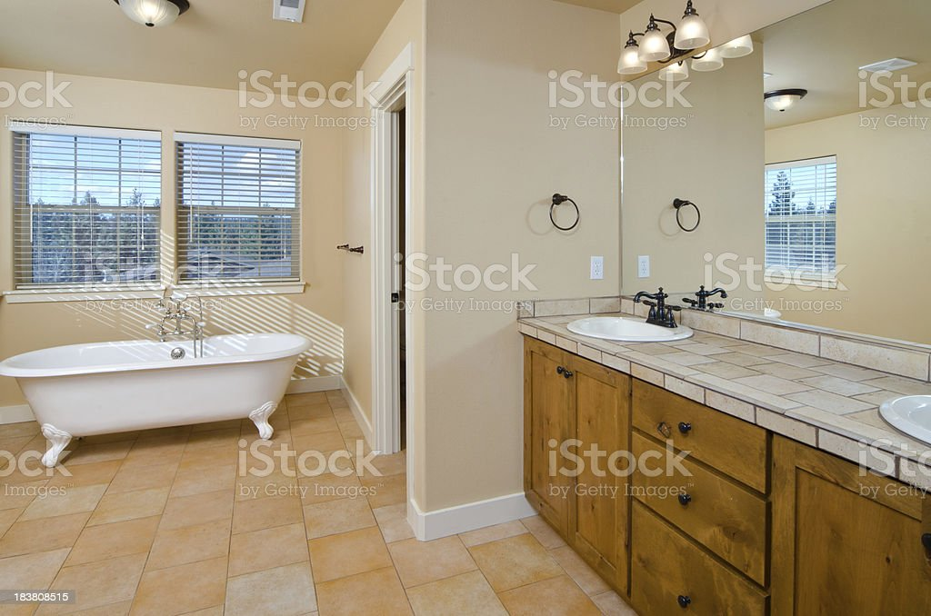 Modern Bathroom With Bear Claw Bathtub Stock Photo & More Pictures ...