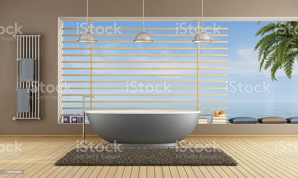 Bagno Moderno In Blu Vasca Da Bagno Fotografie Stock E Altre Immagini Di Acqua Istock