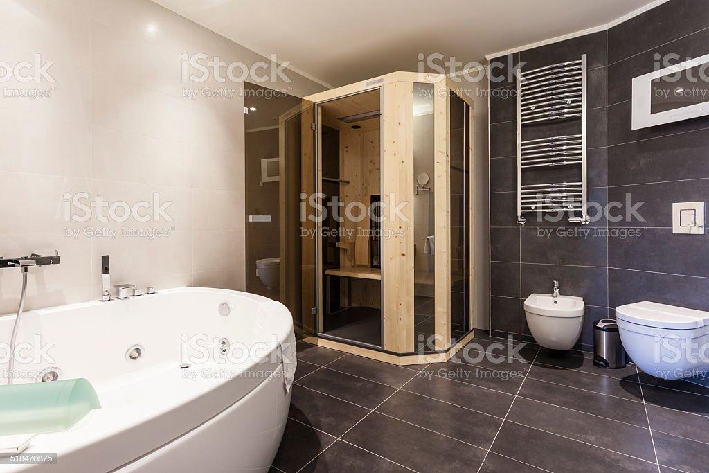 Modernen Badezimmer Mit Sauna Stockfoto und mehr Bilder von ...