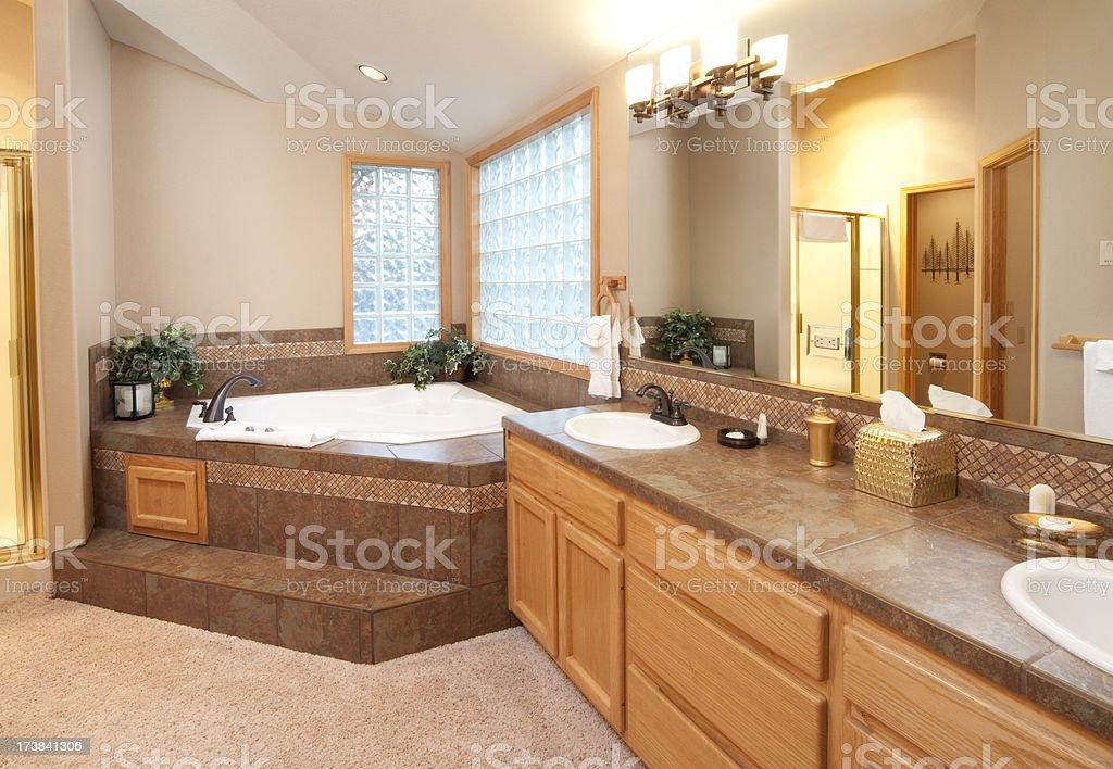 Modern Bathroom With Step In Jacuzi Bathtub Stock Photo & More ...