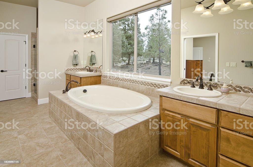 Vasca Da Bagno Incasso Pavimento : Bagno moderno con vasca da bagno a incasso fotografie stock e