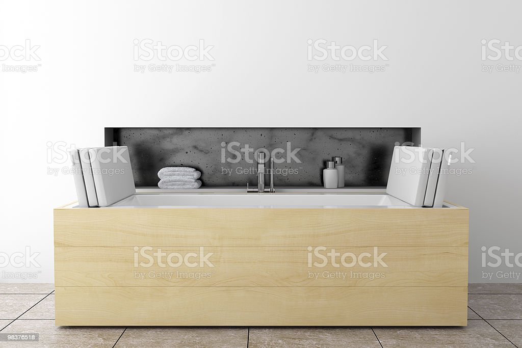 modern bathroom with white wall royalty-free stock photo