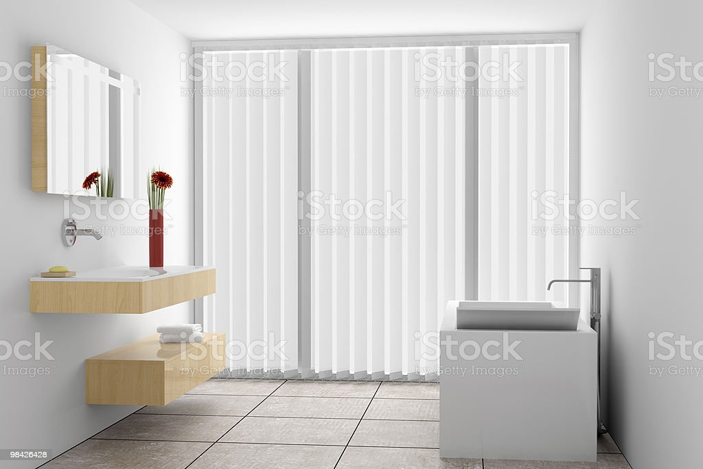 modern bathroom with white walls royalty-free stock photo
