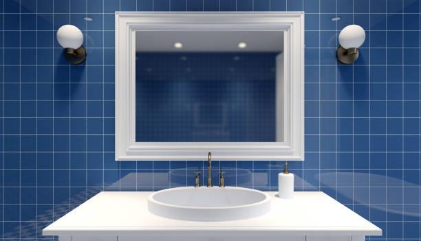 processamento de bathroom.3D moderno - foto de acervo