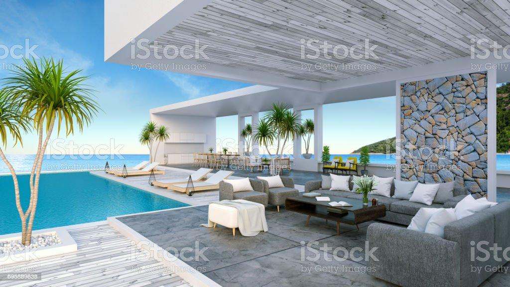 e1f6e485f33be Una Moderna Casa De Playa Piscina Privada Cielo Panorámico Y Vistas ...