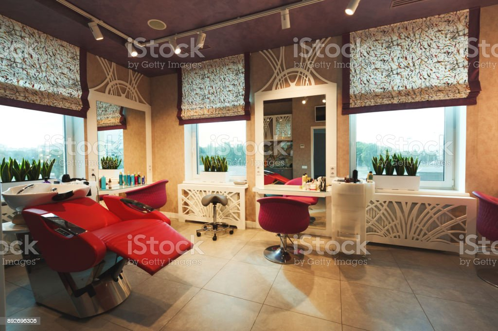 Modern beauty studio interior stock photo