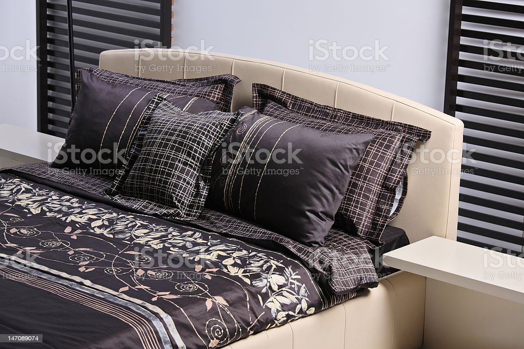 Modern bed royalty-free stock photo