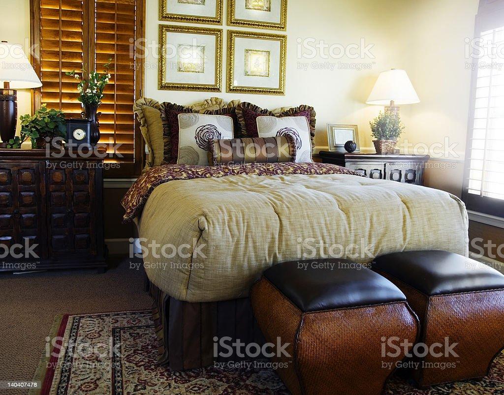 Modern Bedroom Decor royalty-free stock photo