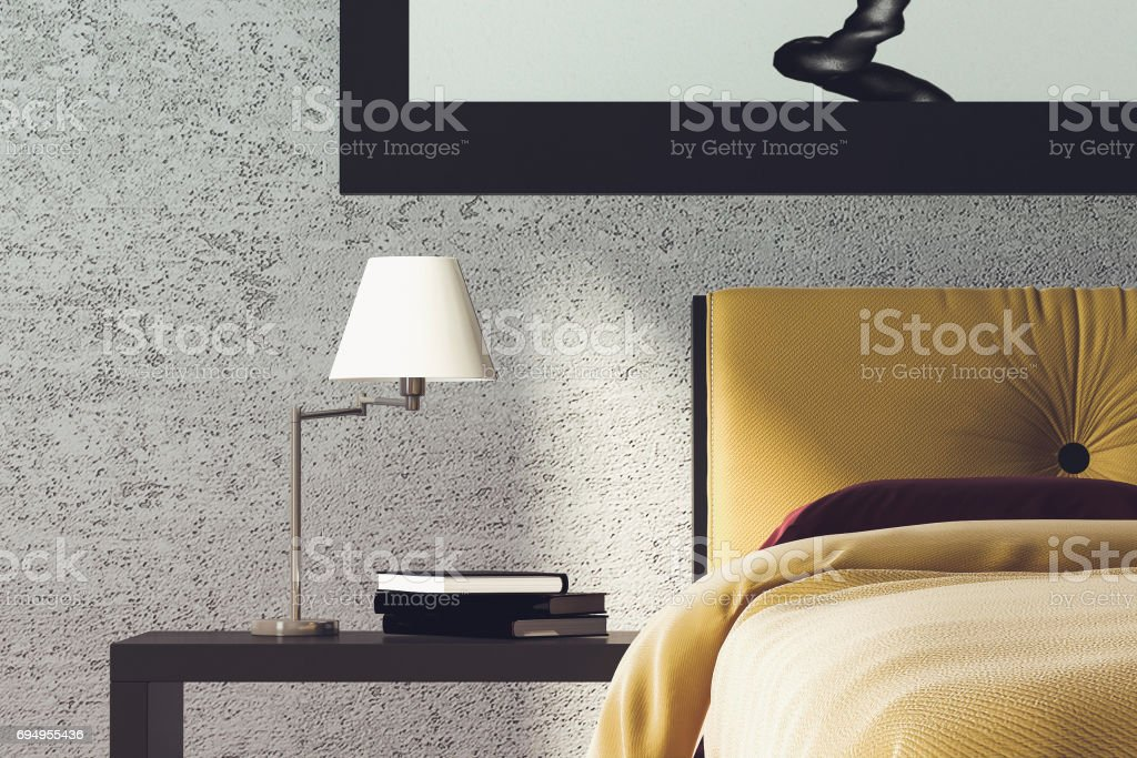 Modern Bedroom Detail stock photo