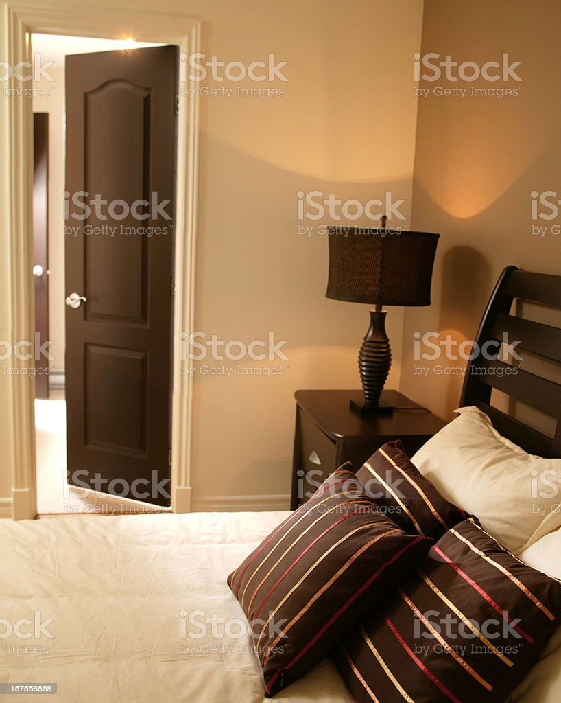 Modern bedroom hotel or residential royalty-free stock photo