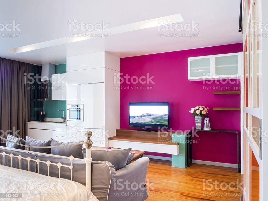 Camere Da Letto Arredate Vintage : Interni moderni di una camera da letto arredate con mobili vintage
