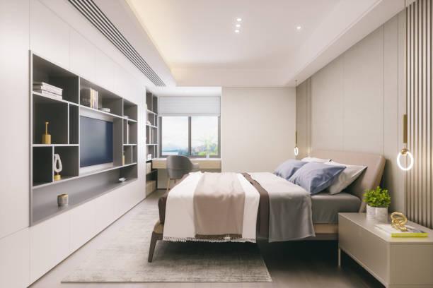 ModerneS Schlafzimmer-Interieur – Foto