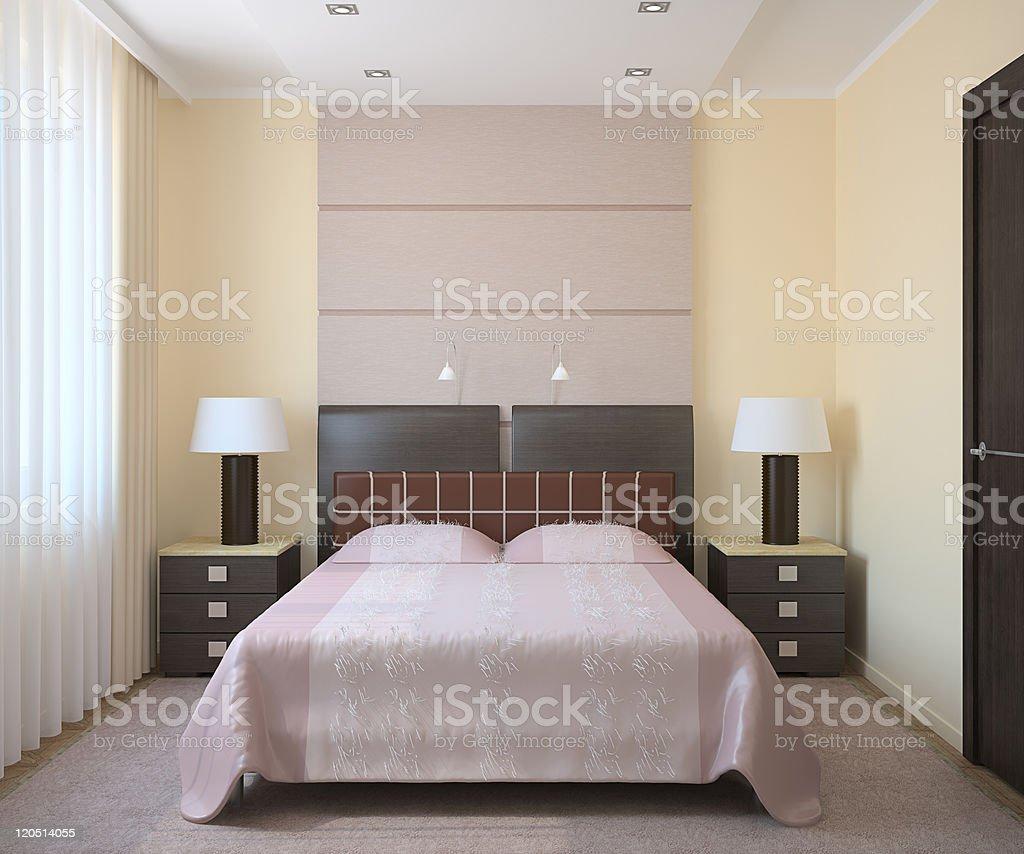 Modern bedroom interior. royalty-free stock photo