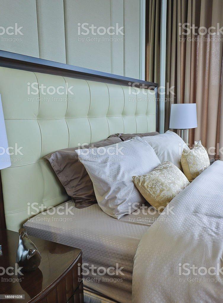 Modern bedroom interior royalty-free stock photo