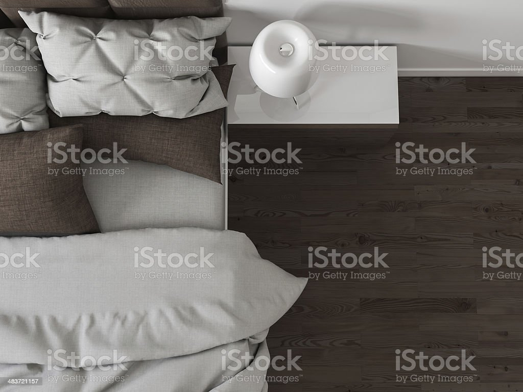 Modern bedroom interior stock photo