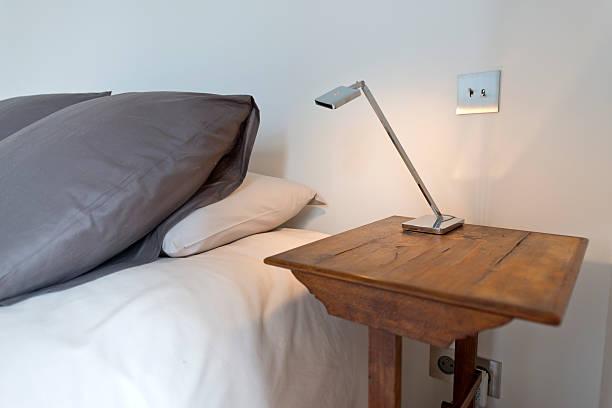 Modern bedroom interior. stock photo